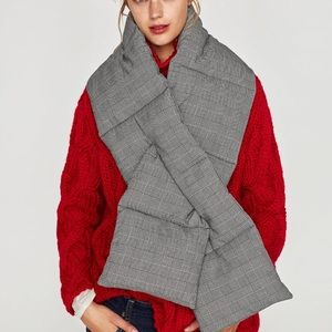 Zara checked quilted scarf